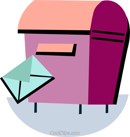 Mailbox and letter Royalty Free Vector Clip Art illustration vc093959