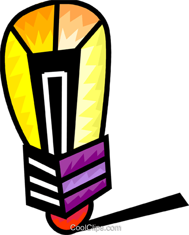 Colorful light bulb Royalty Free Vector Clip Art illustration vc093967