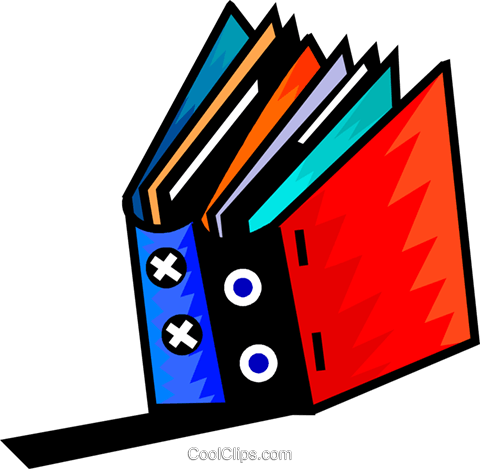Two books Royalty Free Vector Clip Art illustration vc093968