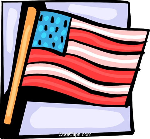 American flag Royalty Free Vector Clip Art illustration vc093990