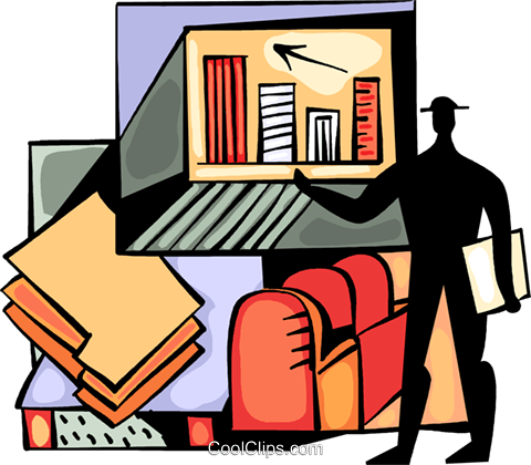 Businessman charting success Royalty Free Vector Clip Art illustration vc094002