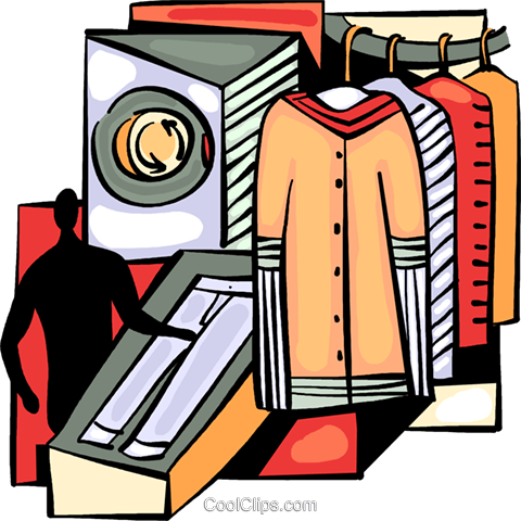 Dry Cleaners Royalty Free Vector Clip Art illustration vc094005