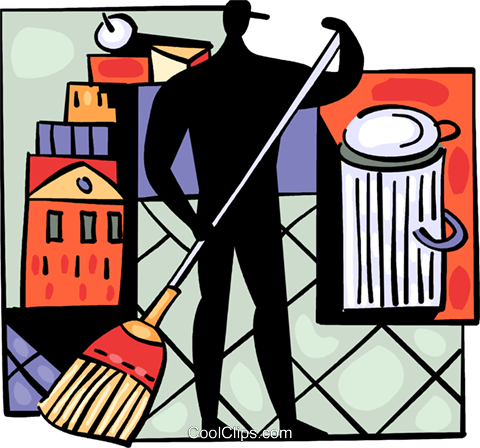 Cleaners Royalty Free Vector Clip Art illustration vc094029