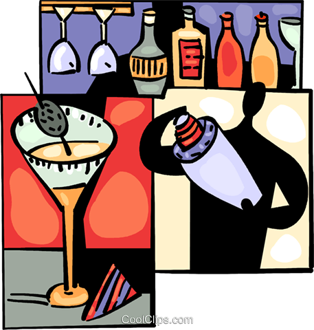 Bartenders Royalty Free Vector Clip Art illustration vc094030