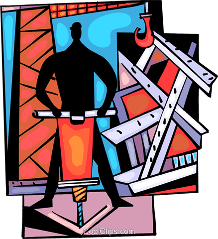 Trades People Royalty Free Vector Clip Art illustration vc094033