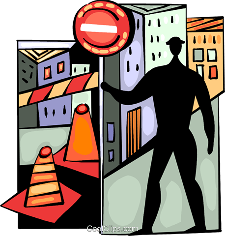 Road Crews Royalty Free Vector Clip Art illustration vc094039