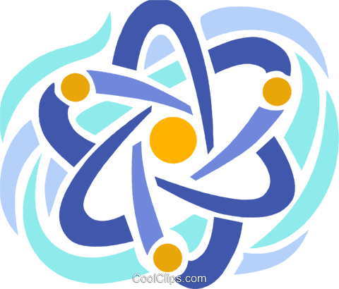 Nuclear energy symbol Royalty Free Vector Clip Art illustration vc094071