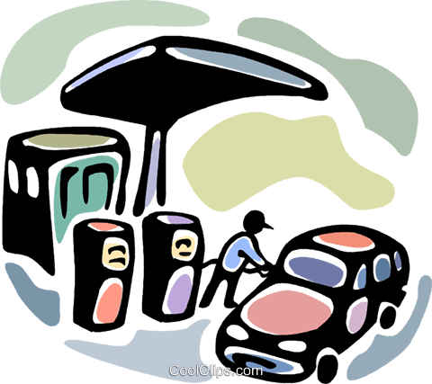 Petroleum and Gasoline Royalty Free Vector Clip Art illustration vc094081