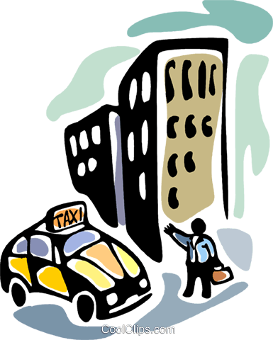 Taxis Royalty Free Vector Clip Art illustration vc094085