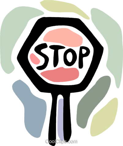 Stop sign Royalty Free Vector Clip Art illustration vc094086