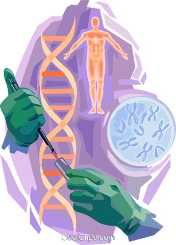 DNA Royalty Free Vector Clip Art illustration vc094092