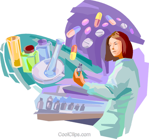 Pharmacology Royalty Free Vector Clip Art illustration vc094097