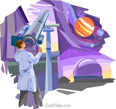 Telescopes Royalty Free Vector Clip Art illustration vc094099