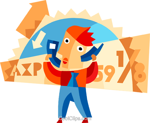 People on Cellular Phones Royalty Free Vector Clip Art illustration vc094102