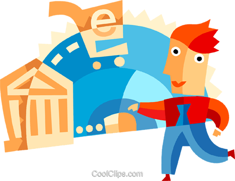 Online banking concept Royalty Free Vector Clip Art illustration vc094103
