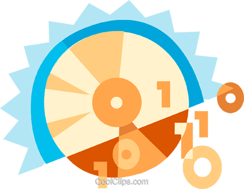 CD-ROM Media Royalty Free Vector Clip Art illustration vc094106