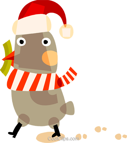 Santa's helper Royalty Free Vector Clip Art illustration vc094136