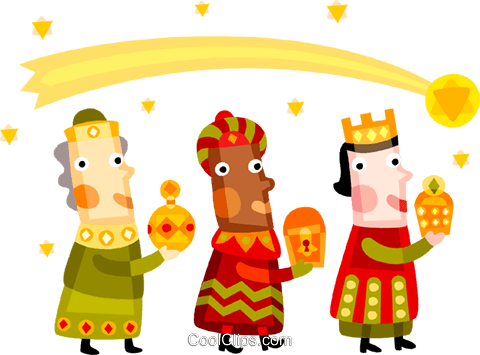 Three wise men Royalty Free Vector Clip Art illustration vc094175