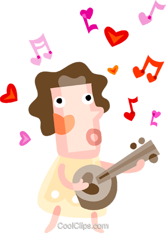 Singers Royalty Free Vector Clip Art illustration vc094191