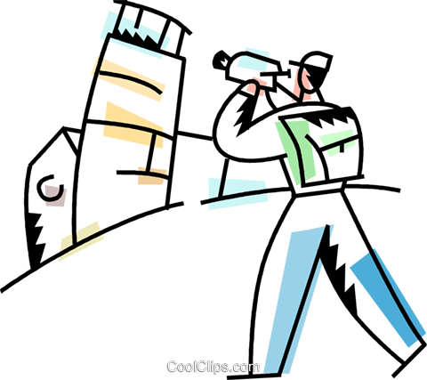 Tourist filming the leaning tower of Pisa Royalty Free Vector Clip Art illustration vc094234