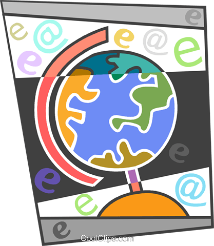 Colorful globe Royalty Free Vector Clip Art illustration vc094260