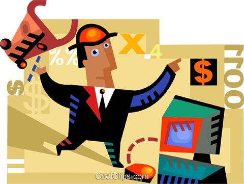 Investment and Stock Market Royalty Free Vector Clip Art illustration vc094268