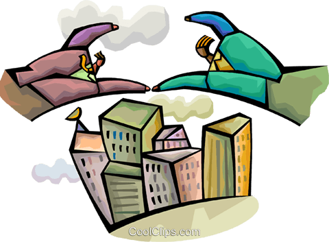 Soaring to New Heights Royalty Free Vector Clip Art illustration vc094301