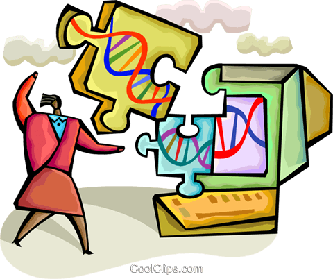 DNA Royalty Free Vector Clip Art illustration vc094322
