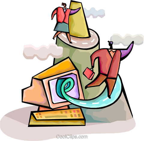 Charting Success Royalty Free Vector Clip Art illustration vc094332