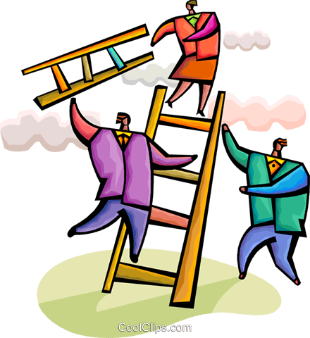 Climbing Ladders Royalty Free Vector Clip Art illustration vc094344