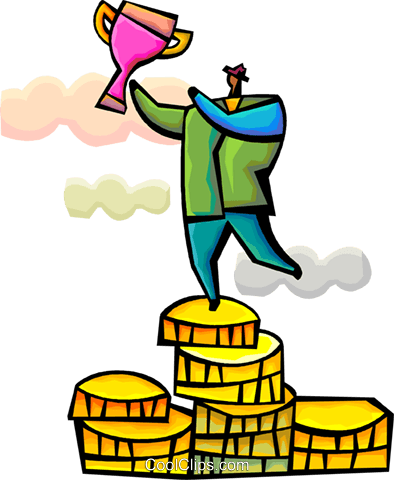 Financial Success Royalty Free Vector Clip Art illustration vc094349