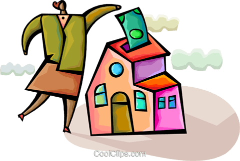 Mortgage and Loans Royalty Free Vector Clip Art illustration vc094351