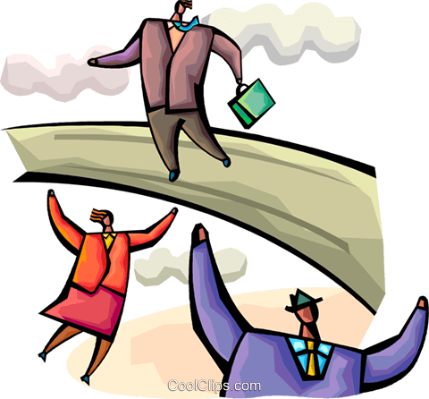 Leadership and Management Royalty Free Vector Clip Art illustration vc094368