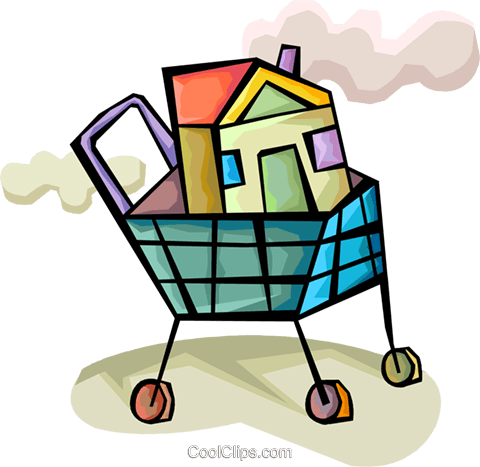 Mortgage and Loans Royalty Free Vector Clip Art illustration vc094369