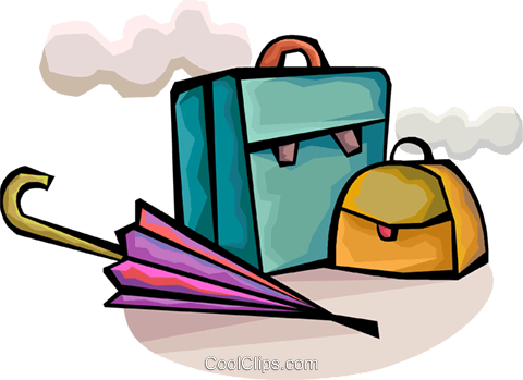 Luggage Royalty Free Vector Clip Art illustration vc094372