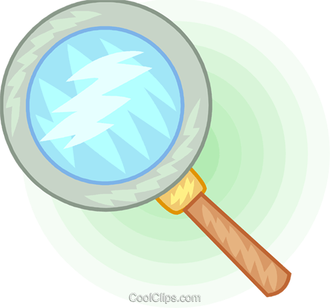 Magnifying glass Royalty Free Vector Clip Art illustration vc094396