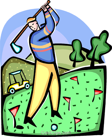 Golf Royalty Free Vector Clip Art illustration vc094412