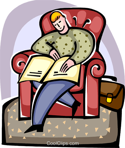 Man sleeping in chair with newspaper Royalty Free Vector Clip Art illustration vc094414