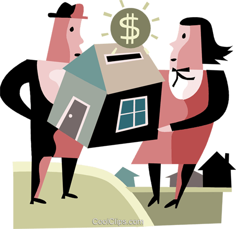 Mortgage and Loans Royalty Free Vector Clip Art illustration vc094424