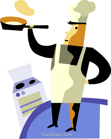 Chefs and Cooks Royalty Free Vector Clip Art illustration vc094430