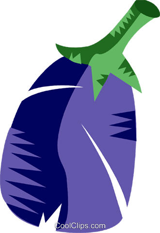 Eggplant Royalty Free Vector Clip Art illustration vc094443