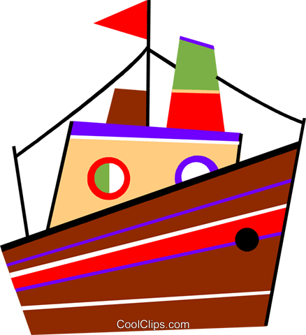 Cruise ship Royalty Free Vector Clip Art illustration vc094454