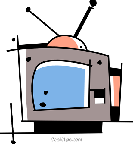 Television set Royalty Free Vector Clip Art illustration vc094468
