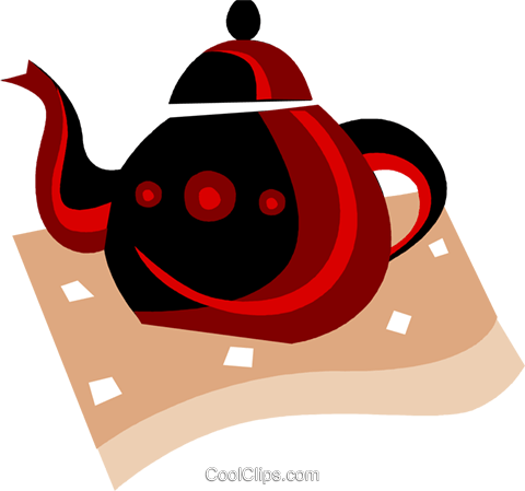 Teapot Royalty Free Vector Clip Art illustration vc094482