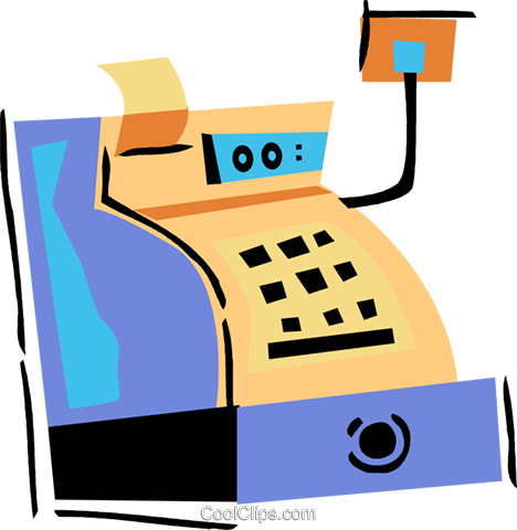 Cash register Royalty Free Vector Clip Art illustration vc094501