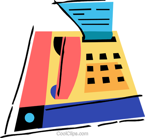 Fax machine Royalty Free Vector Clip Art illustration vc094503