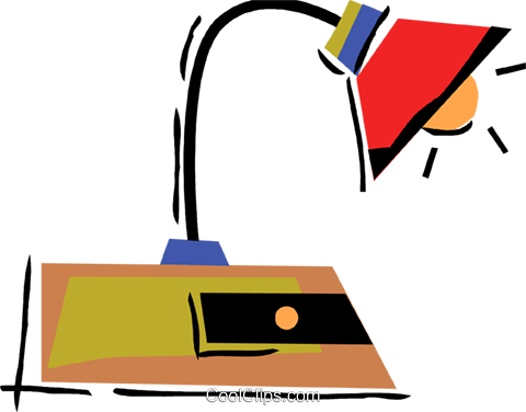 Desk lamp Royalty Free Vector Clip Art illustration vc094504