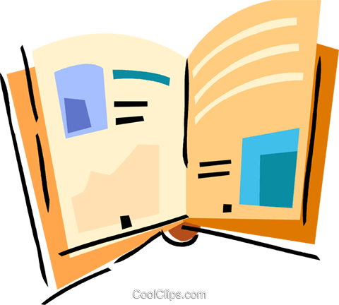 Open book Royalty Free Vector Clip Art illustration vc094506