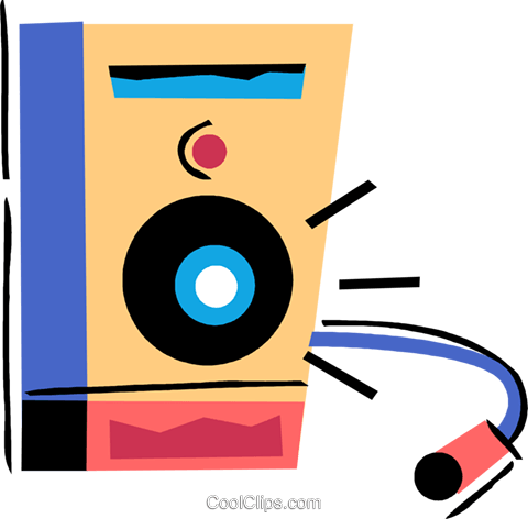 Stereo speaker Royalty Free Vector Clip Art illustration vc094507