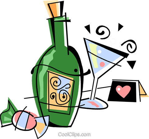 Champagne Royalty Free Vector Clip Art illustration vc094524